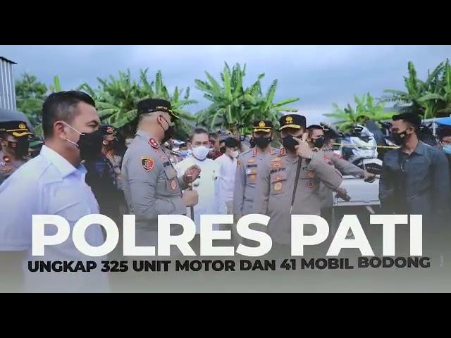 Polda Jateng dan Polres Pati Amankan 325 Motor dan 41 Mobil Bodong