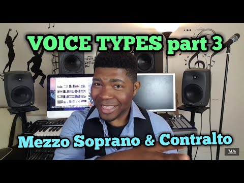 VOICE TYPES pt. 3 | MEZZO SOPRANO AND CONTRALTO - Singing Lessons