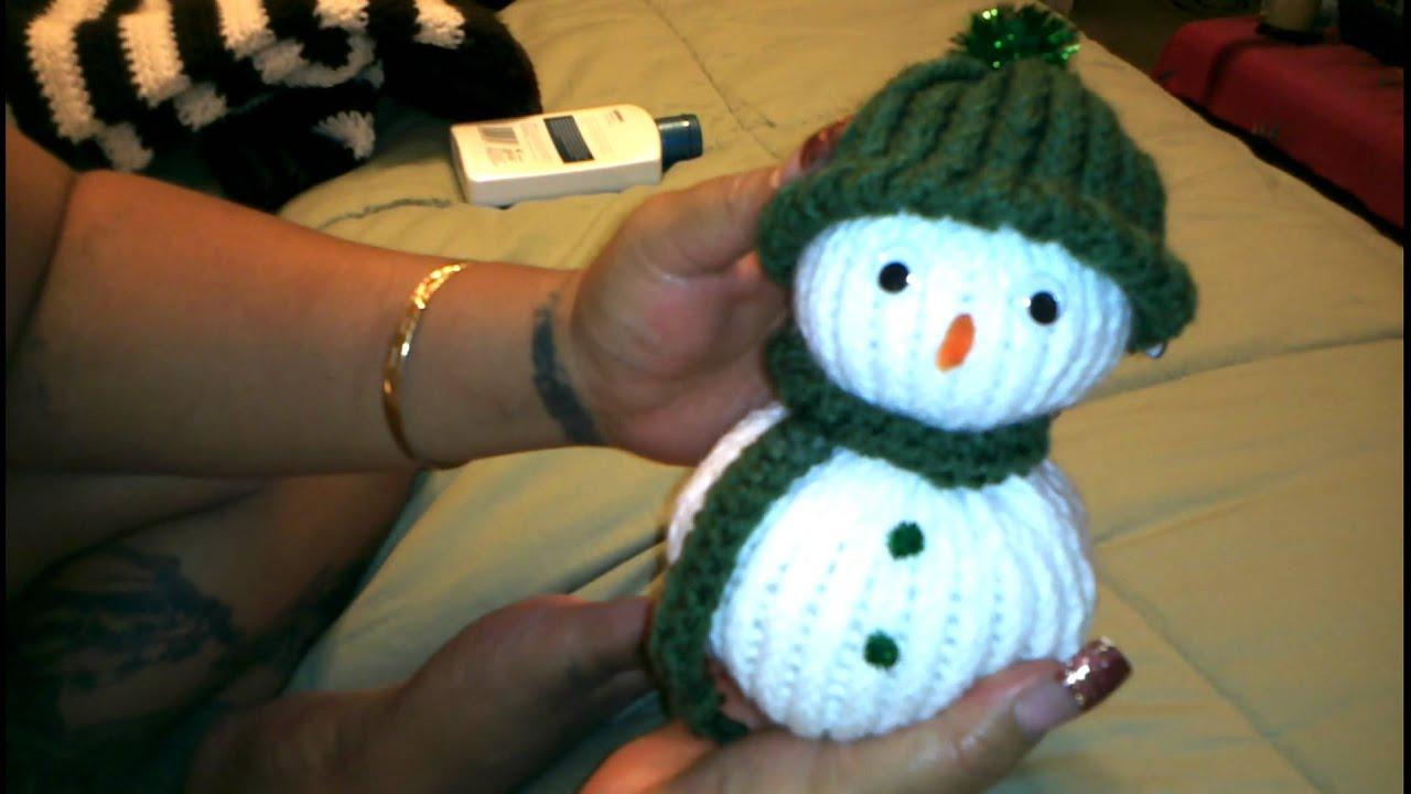 Crocheted Snowman - YouTube