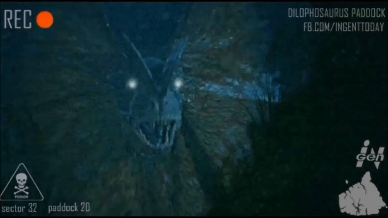 Dilophosaurus paddock cam Jurassic Park - YouTube