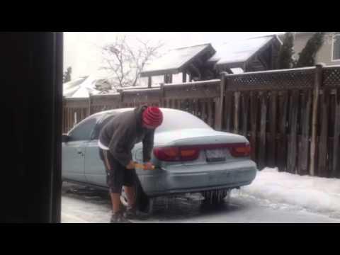 ice storm in Fergus, Ontario