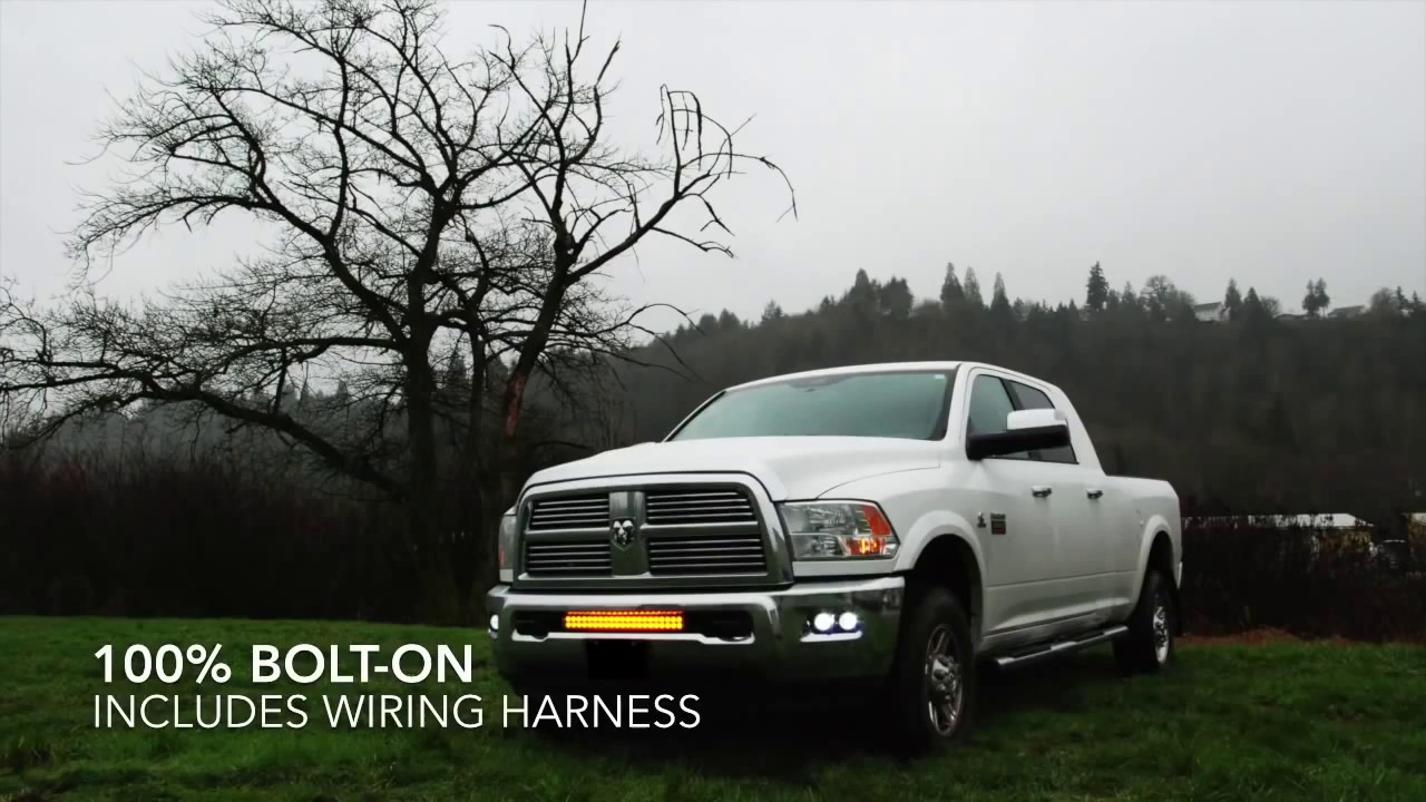 Vision X Lighting Dodge Ram 2500 3500 LED Bar and Fog Lights Video – Dodge Fog Light Wiring Harness
