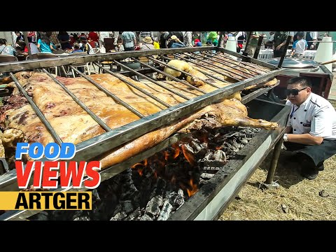 Street Food In Mongolia: Roasting A Whole Lamb At The Nomadic BBQ Festival