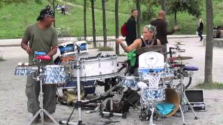 Awesome Drummers live in Mauerpark - Electrobeats from Berlin, Germany - Puto Production - 9/13