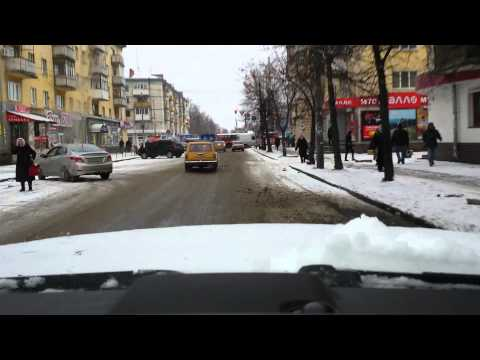Zhytomyr icy roads