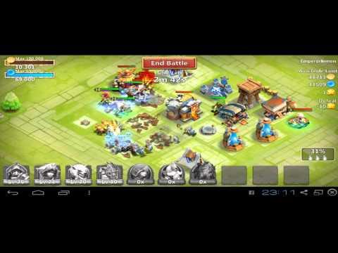 Jugando Castle Clash En Windows7