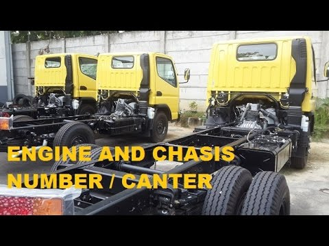 Engine And Chassis Number Location Mitsubishi Canter Youtube