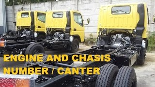 ENGINE AND CHASSIS NUMBER LOCATION MITSUBISHI CANTER