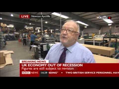 BBC News Clip - Roman's Gerry Osborne Interview following GDP Figures