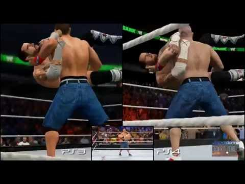 WWE 2K15 PS3 Vs PS4 Real Life CM Punk John Cena
