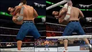 WWE 2K15: PS3 vs PS4 vs Real Life (CM Punk vs. John Cena) - Ultimate Comparison
