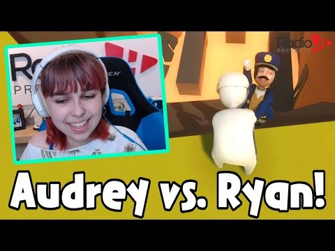 Attempting Gang Beasts in Human Fall Flat - Audrey vs. Ryan!