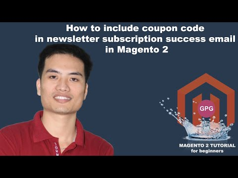 How to include coupon code in newsletter subscription success email in Magento 2