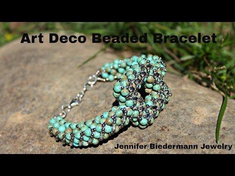 Art Deco CRAW beaded bracelet