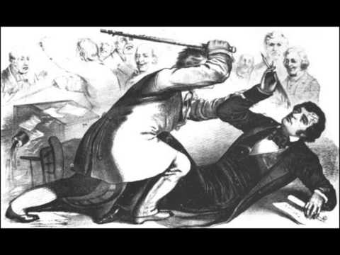 "Beck on the beatdown of Charles Sumner in Congress and use of terms like ""domestic enemies"" then"