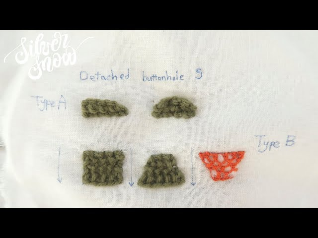 [프랑스 자수] 디테치드 버튼홀 스티치 detached buttonhole stitch, hand embroidery stitch tutorial