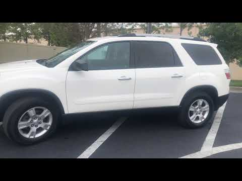 2012 WHITE GMC ACADIA SLE (1GKKRNED4CJ) with an 3.6L engine, Automatic transmission, located at 6921 40th St N, Pinellas Park, FL, 33781, (727) 366-8136, 27.834944, -82.687653 - Photo #0