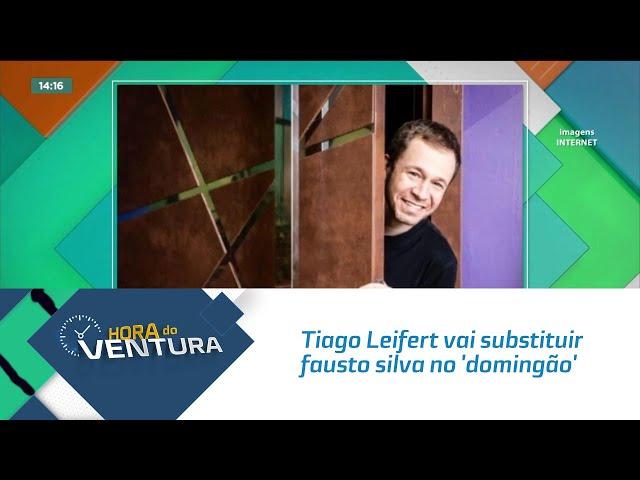 Tiago Leifert vai substituir fausto silva no 'domingão'