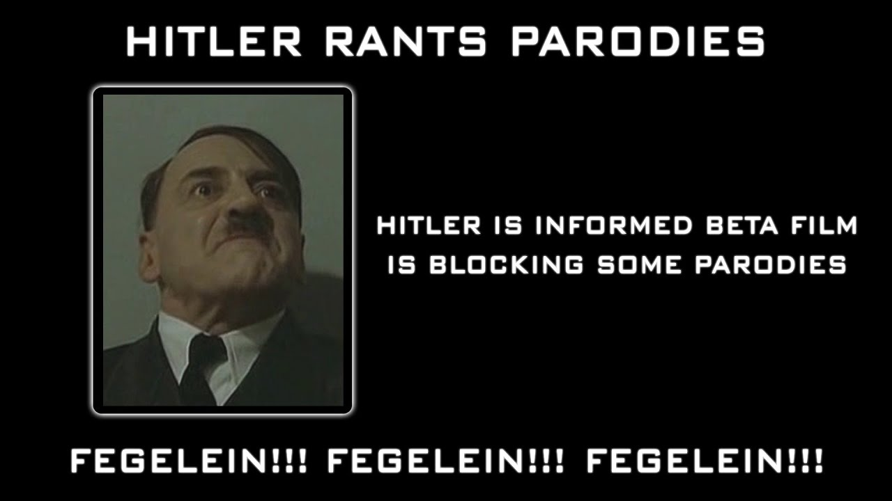 Hitler is informed Beta Film is blocking some parodies
