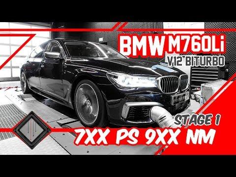 BMW M760Li V12 Biturbo | Chiptuning - Dyno - 100-200 km/h | mcchip-dkr