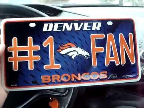 Denver Broncos License Plate - Not Too Shabby!