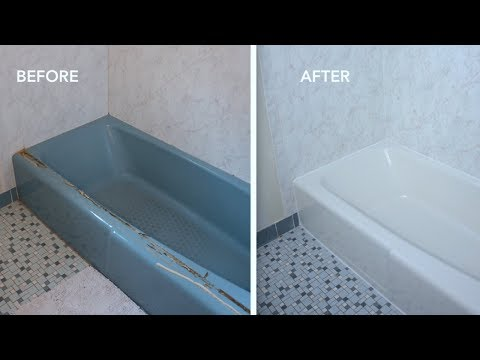 BEFORE & AFTER: How to Paint a Bathtub and Clean It. Does It Last?? - Thrift Diving
