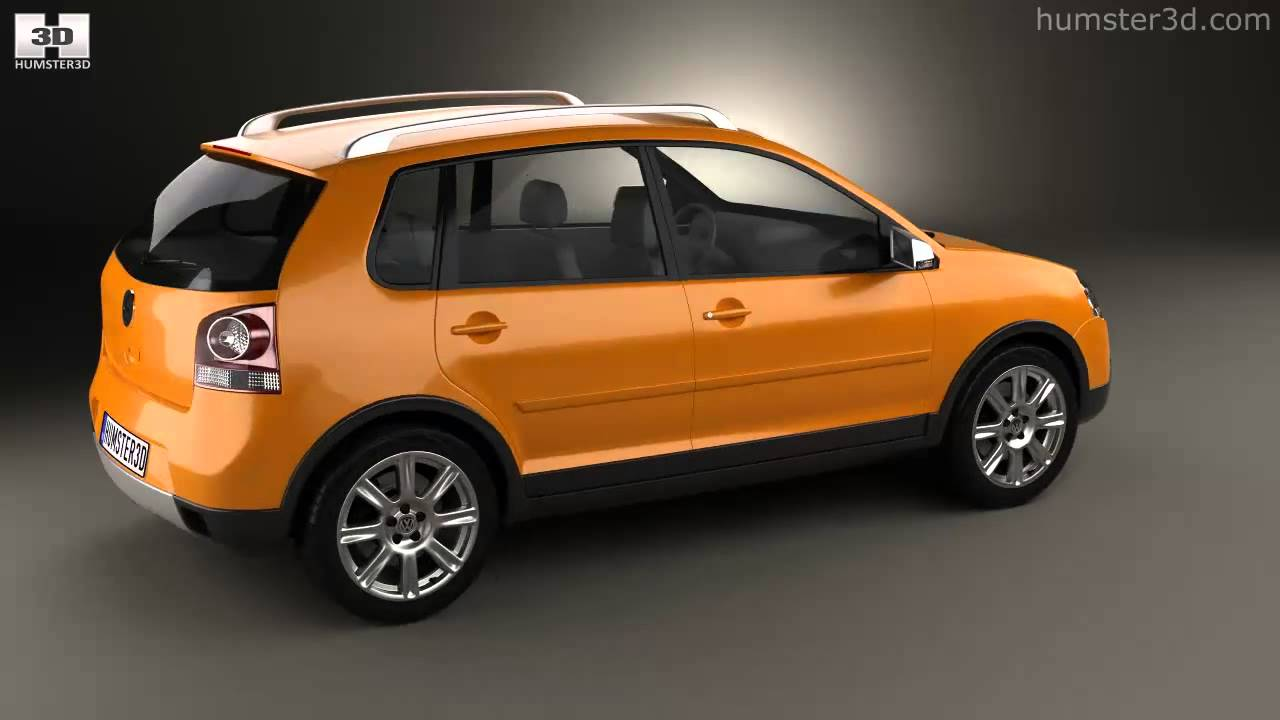 volkswagen cross polo 2006 by 3d model store youtube. Black Bedroom Furniture Sets. Home Design Ideas