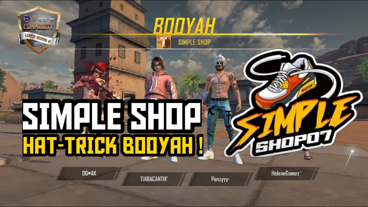 GAMEPLAY HAT-TRICK BOOYAH SIMPLE SHOP | UPoint Esports Community League 2020