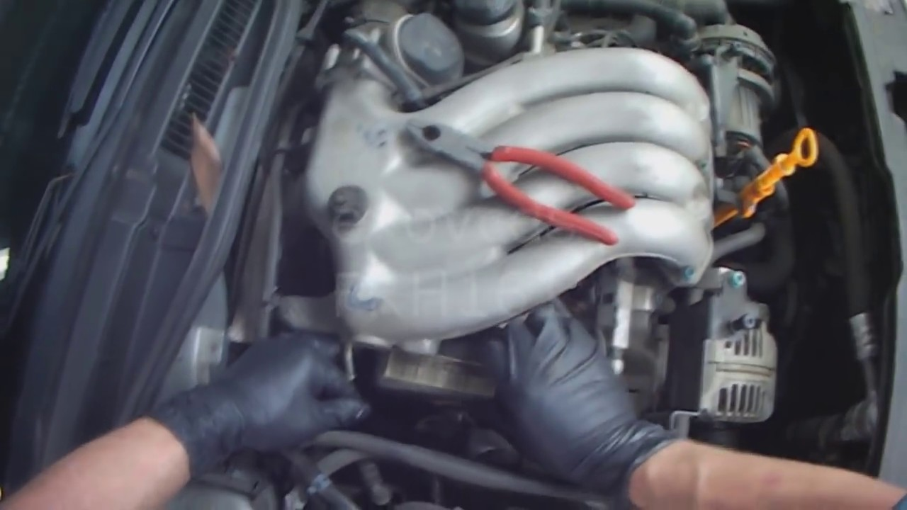 hight resolution of vw a4 2 0l water pump removal