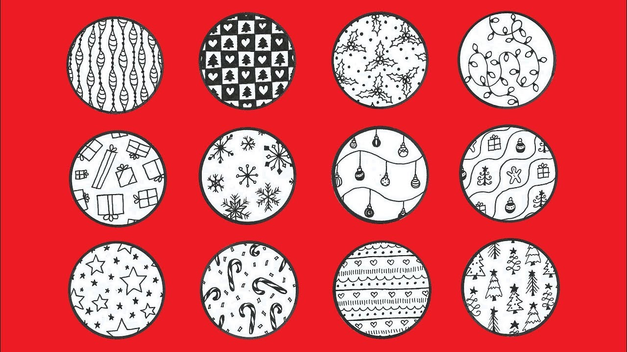12 CHRISTMASSY ZENTANGLE PATTERNS | DRAWING & DOODLING & CHRISTMAS ...