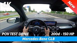 Mercedes-Benz GLB 2020 - POV тест-драйв в 4K | 200d - 150 л.с., расход 0 - 100...