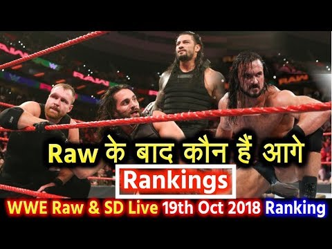हार गये Roman Reigns - WWE Monday Night Raw & SD Live 19th Oct 2018 Rankings! Dean Ambrose vs Shield
