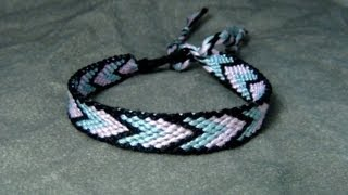 ► Friendship Bracelet Tutorial - Beginner - Bordered Chevron