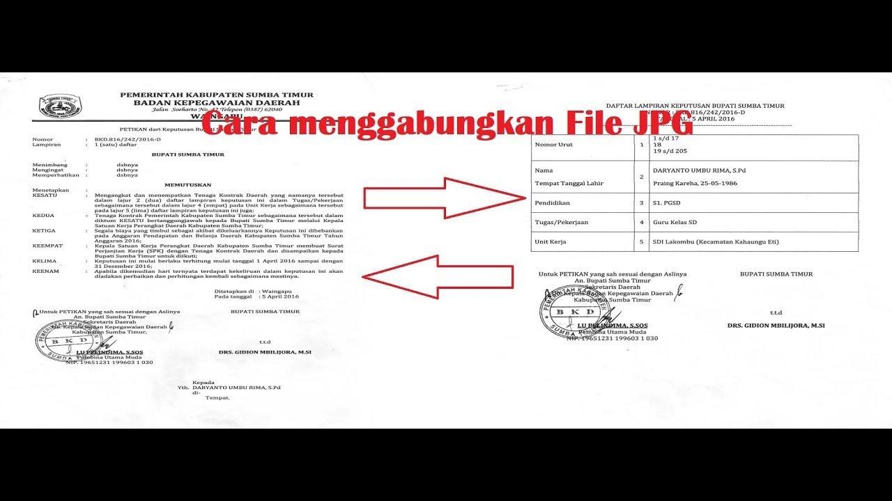 Cara Menggabungkan File Jpg Menjadi Satu Untuk Kepentingan Ppg Youtube