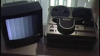 "Sony CV 2100 ACE  Open Reel  1/2"" B/W  Videorecorder. Year 1971"