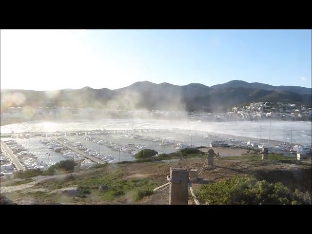 Llançà, atacat per una tramuntana huracanada - Novembre 2017