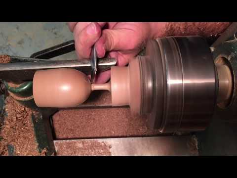 Making a small goblet from a saved piece of wood. Woodturning (raw)