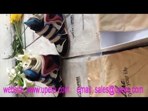 Upere Wedge Sneakers Suede Blue Tongue