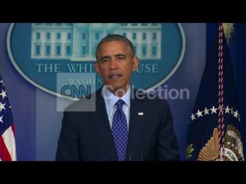 OBAMA:IRAQ CRISIS REMARKS- WALK UP