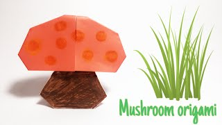 How to fold Mushroom origami | Origami for kids