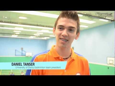 Daniel Tanser about University of Derby badminton team