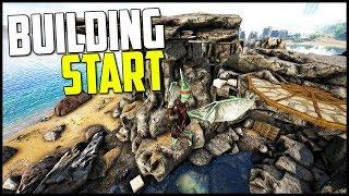WORST SPOT TO START BUILDING! - Ark Survival Evolved Modded Ep 5 ( Ark Primal Fear & More! )