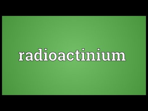 Header of radioactinium
