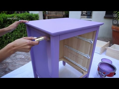 DIY: Glam Nightstand