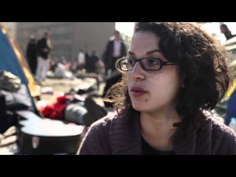 Who was Khaled Said? People interview at Tahrir Square, Cairo, Egypt.
