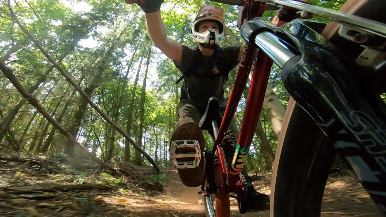CRAZY DOWNHILL BMX POV