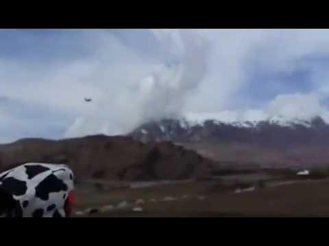 Russian SU-25 over Tajik-Afghan border in Badakhshan region May 10, 2017