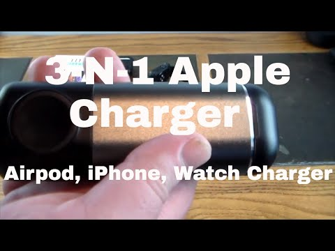 3-In-1 Apple Airpod, Apple Watch, & IPhone Portable Charger