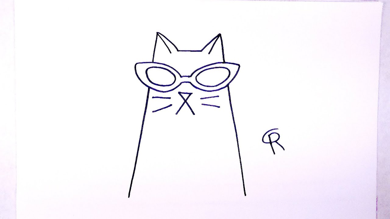 Learn how to draw a cool cat icanhazdraw youtube for How to draw a cool a