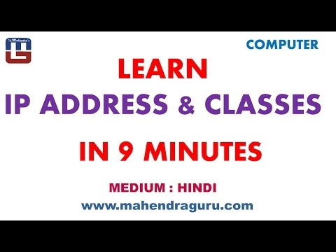 Learn IP Address & Classes In 9 Minutes : Hindi Version